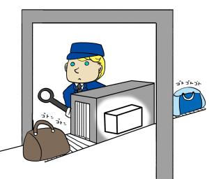 空港での検査