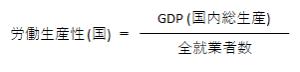 労働生産性 (国)の計算式