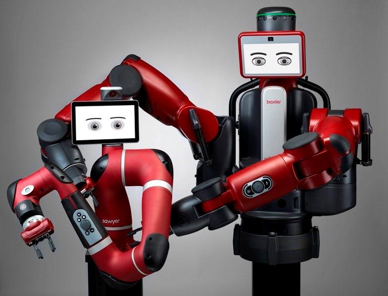 図11 Rethink RoboticsのSawyerとBaxterの共同ロボット(ウィキペディアより)