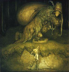図6 北欧の伝説の怪物トロール(Wikipediaより)