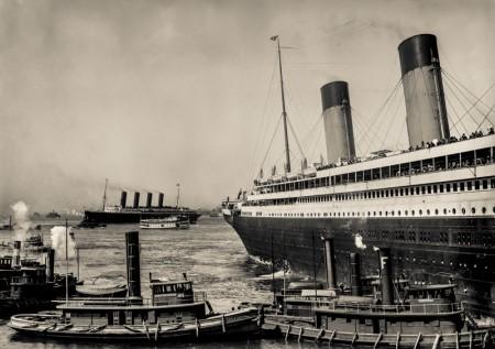 図5 当時の大西洋航路の客船